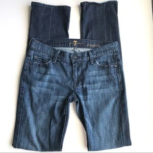 7 for all Mankind straight leg blue jeans 27 7FAM